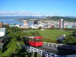 A classic view of the Wellington cable car and harbour, courtesy of Brett Taylor (CC License)