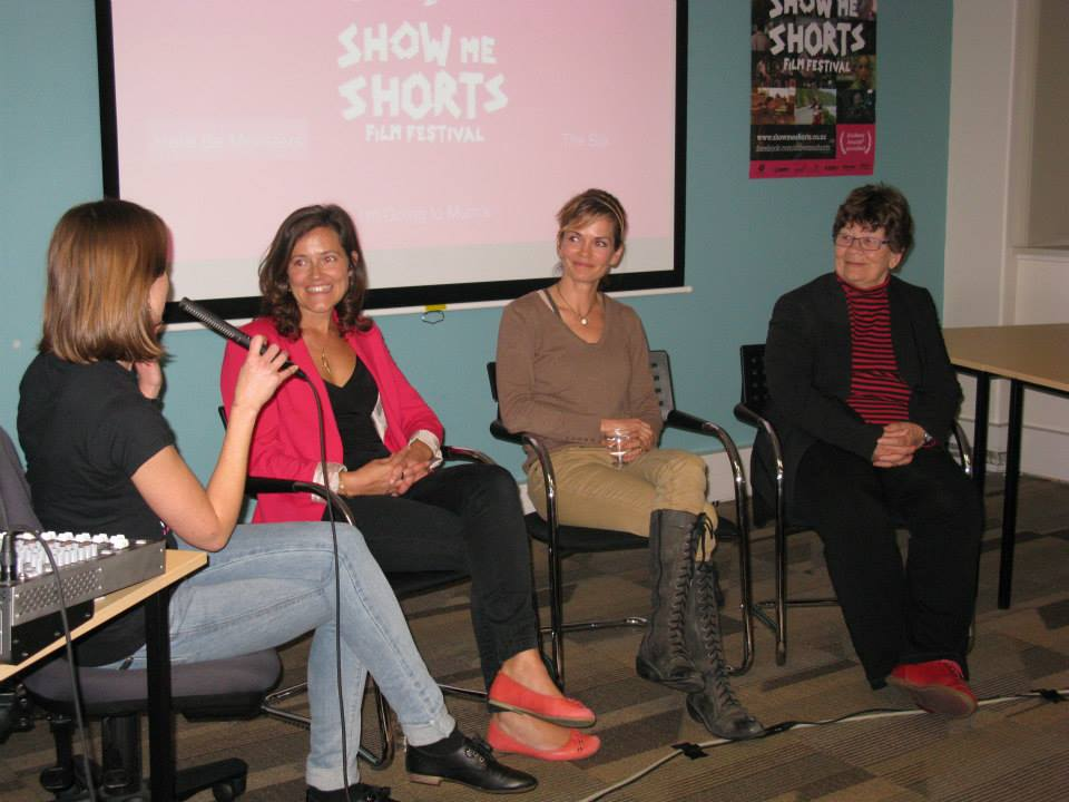 The panel at the Wellington Short FIlm Talk